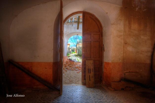 Door. Abandoned building