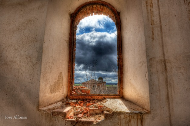 Window, abandoned building