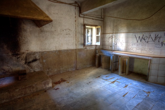 Kitchen, Abandoned building