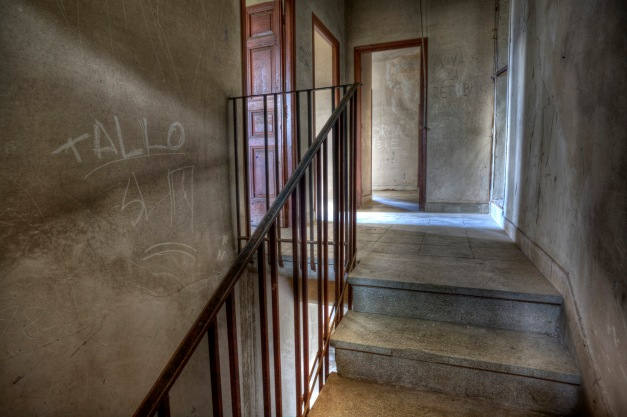 Stairs, Abandoned building