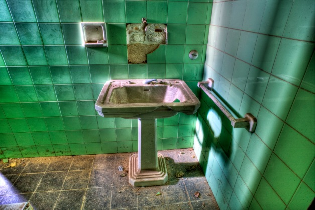 Washbasin. Abandoned building