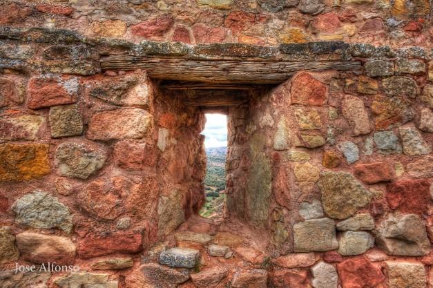 Loophole, Riba de Santiuste castle, Guadalajara, Spain