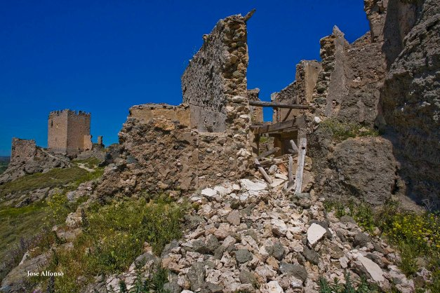 Ruined castrle, Oreja, Toledo, Spain