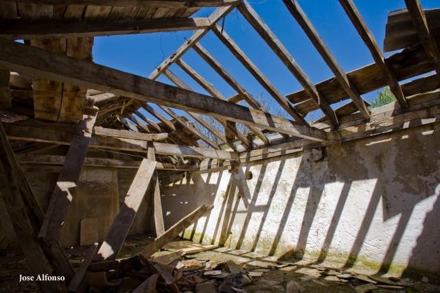Oreja Village, Toledo, Spain. Abandoned building