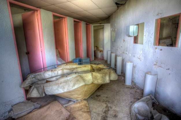Bathroom, Abandoned water park