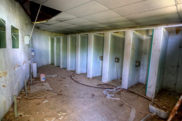 Bathroom, Abandoned water park
