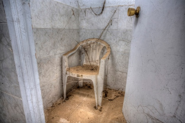 locker room,  Abandoned water park