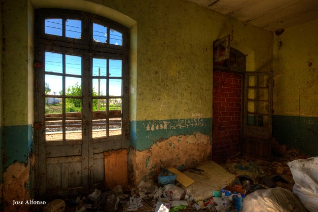 Abandoned train station.
