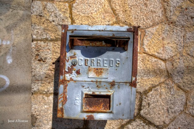 Mailbox post, Abandoned train station.