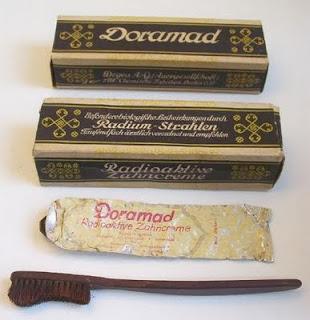 pasta de dientes radiactiva